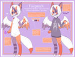 Foxpatch Reference Sheet by SapphireTheWolfDemon