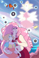 Rose Quartz+Pearl vs White+Pink Diamond by UnicaGem