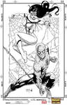 Spider-Woman and Spiderman Tadeo variant by ArachneSF