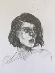 Q sketch by AGlitterGoddess