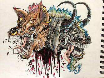 Punk Rock Chimera by JordyArt77