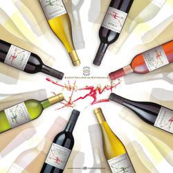 Wine Backer Card by 6seven