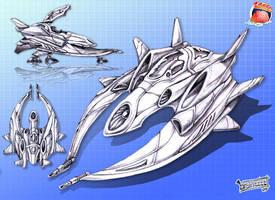Blitzwing-Class Interceptor by brainzzzz