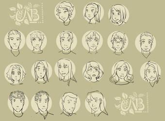 Getsuyoubi /Late Start Mondays Character sheet by Nikkichan333