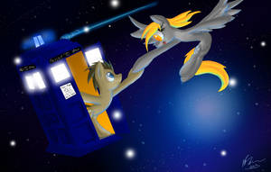 Derpy and the Doctor by DraconicSonic