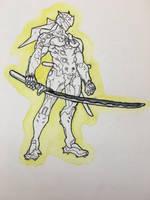 Overwatch - Genji by Nightfall-Art