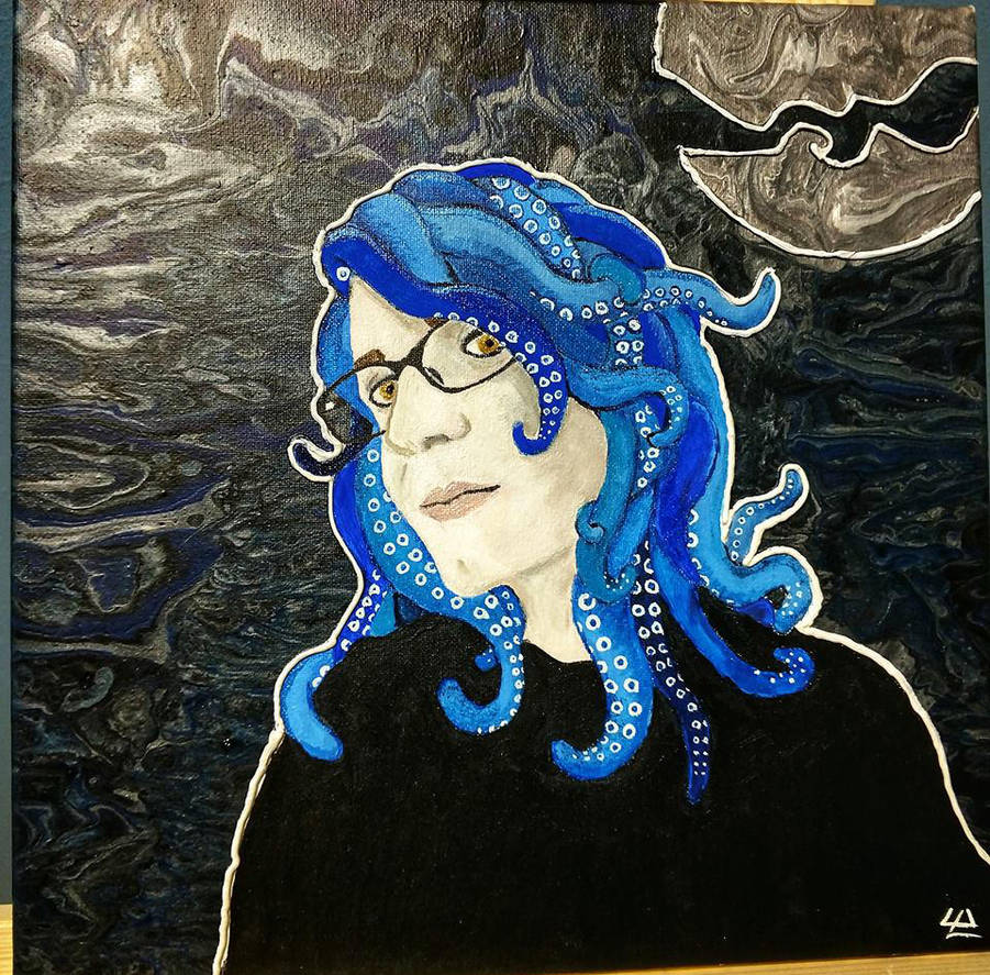 Tentacle-y Self Portrait by OddOtterOut