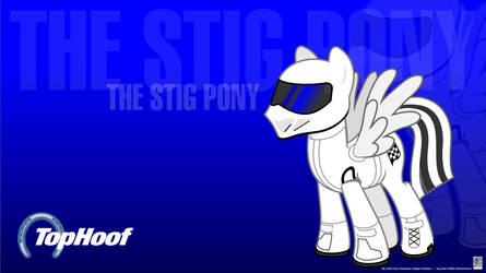 The Stig Pony Wallpaper by Kman-Studio