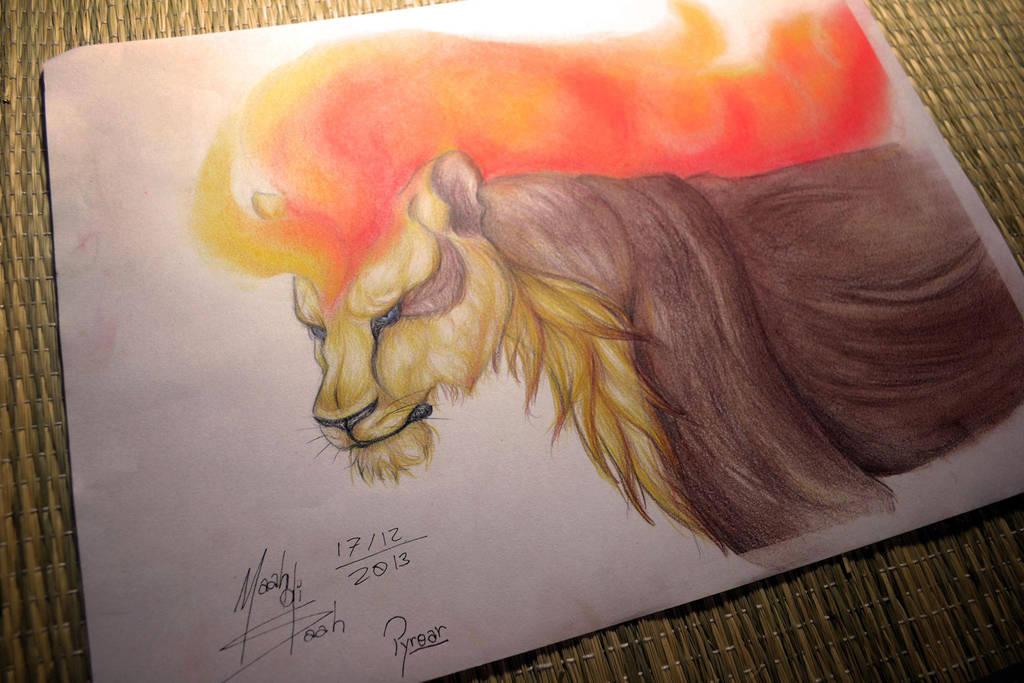 Pyroar Female by Zaphy-G