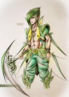 Scyther Gijinka by Zaphy-G