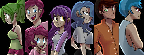 ShrapnelLeader's Mane Six Kids Humanized! by kianamai