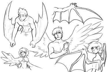 Humanized Pegasus (study) 2 by kianamai