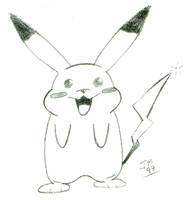 Pikachu Sketch by Snatcher2047