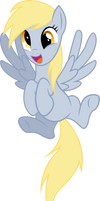 A Happy Derpy by SparkPonies