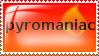 Pyromaniac stamp by wishesthedog