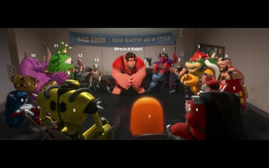 Wreck-It Ralph - The Bad-Anon Meeting by GJTProductions