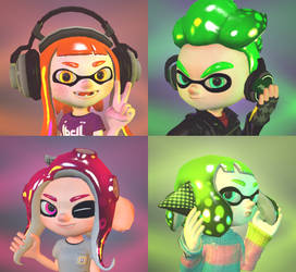 My Main Splatoon OCs Profile Picture Pack by Fairy27Main