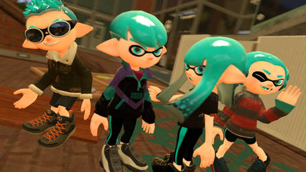 SFM Splatoon Manga: Team X-Blood Poster by Fairy27Main