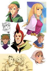 Zelda SS Sketch Dump by RidleyWright