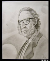 Isaac Asimov - Caricature by AlexanderLeon