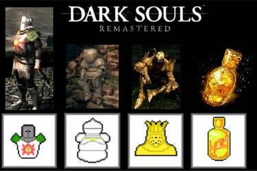 Dark souls | pixel art collection by Ikanaze by Ikanaze