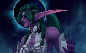 Tyrande, The avatar of Elune's vengeance by Eithniel