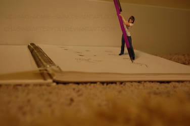 Tiny Tifa-An Artist at Work by Uzumaki-Akane-sama