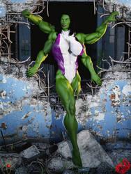 Dal-Lii She Hulk by quantum-publishing by LoneStranger