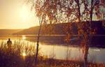 Autumn Sunset by Lain-AwakeAtNight