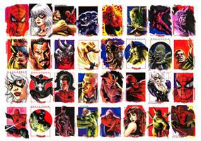 Spider-man sketchcards by felipemassafera