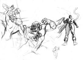 Loose sketches by felipemassafera