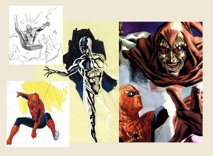 Old Marvel stuff by felipemassafera