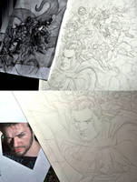 Penciling the Crossover cover by felipemassafera