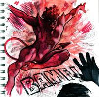 Nightcrawler red sketch by felipemassafera