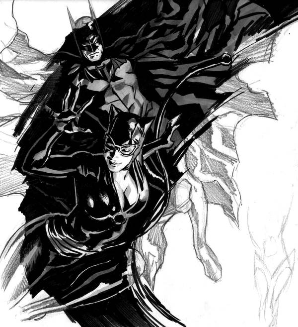 Bat Cat Sketch by felipemassafera