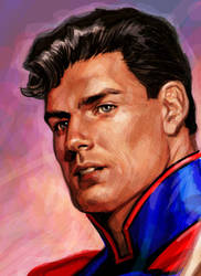 Superman color detail by felipemassafera