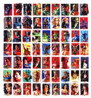 Justice League Sketchcards by felipemassafera