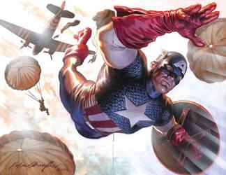 Captain America sketch cover by felipemassafera