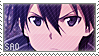 Sword Art Online: Kirito Stamp 2 by NutkaseCreates