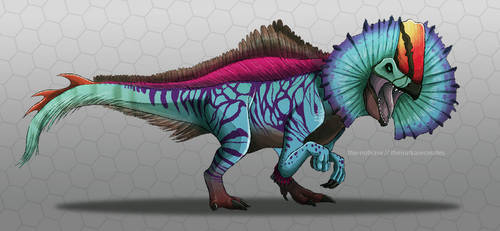 Erliphosaurus by NutkaseCreates