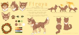 Fireya- reference sheet by FireyaFox