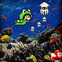 Scuba, Mario Style. by MightyMusc