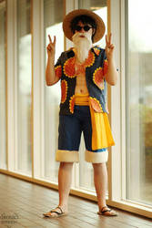 Luffy in disguise by Maria-M--aka--Bakura