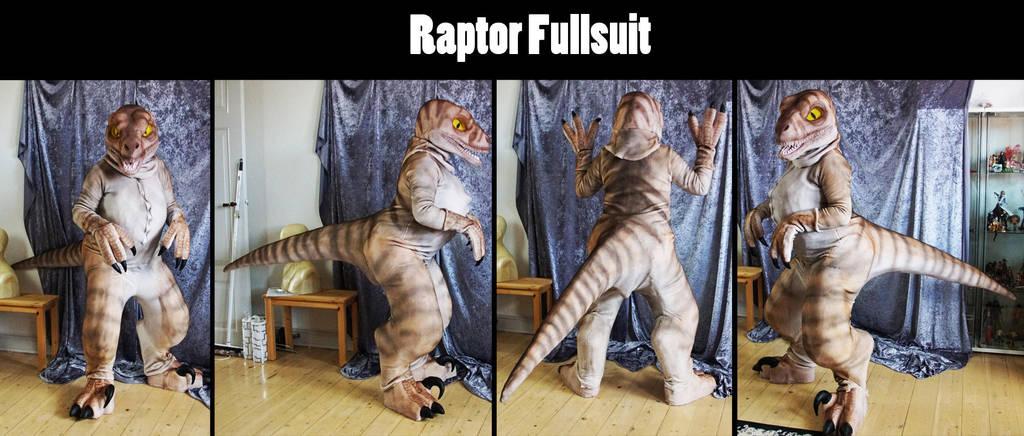 (For sale) Raptor Fursuit by Maria-M--aka--Bakura