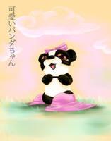 Kawaii Little Panda by Inkkar