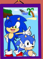 Sonic and Sonic by Retro-Eternity