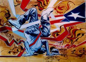 boricua graffiti by ch1m1h4ck3r