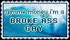 stamp: broke ass gay by dragonfiish
