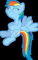 Rainbow Dash can't hold it back by dasprid