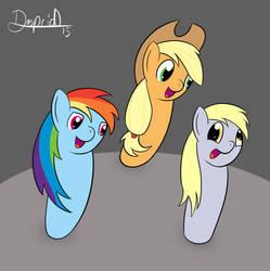 Three bowling gals by dasprid